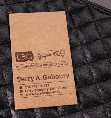 Brown Kraft Business Cards TAG | Luxury Printing