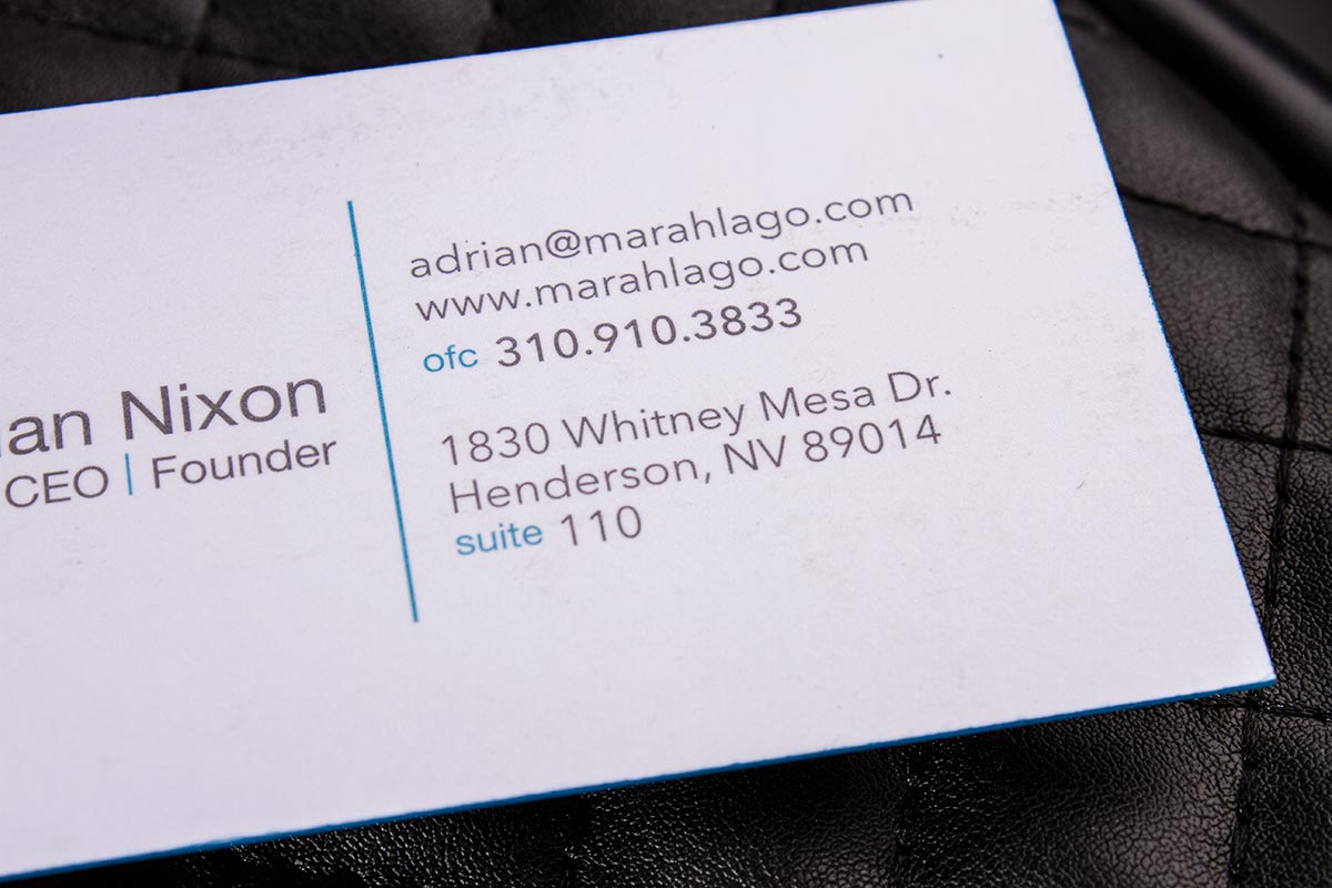 Duplex Business Card | Luxury Printing