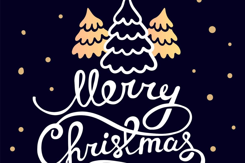 Merry Christmas logo | Luxury Printing