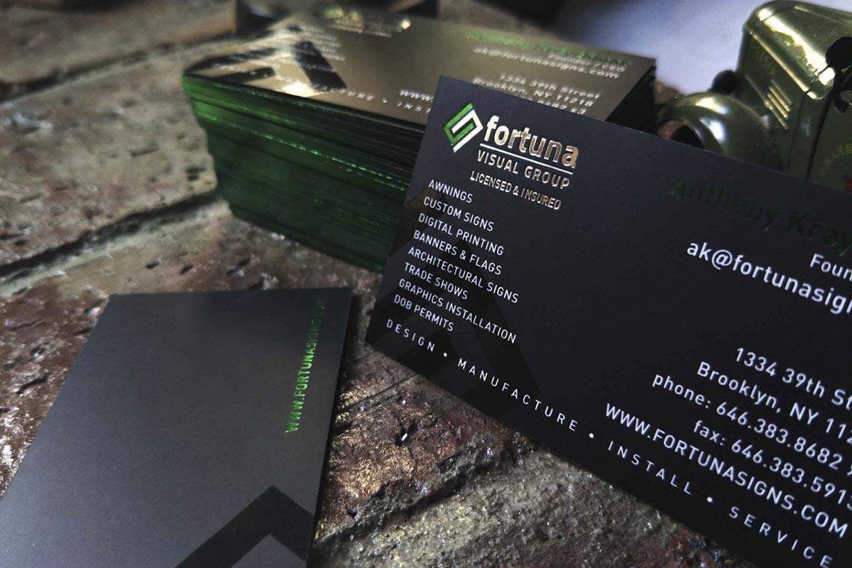 Embossed Business Cards | Printed by Luxury Printing